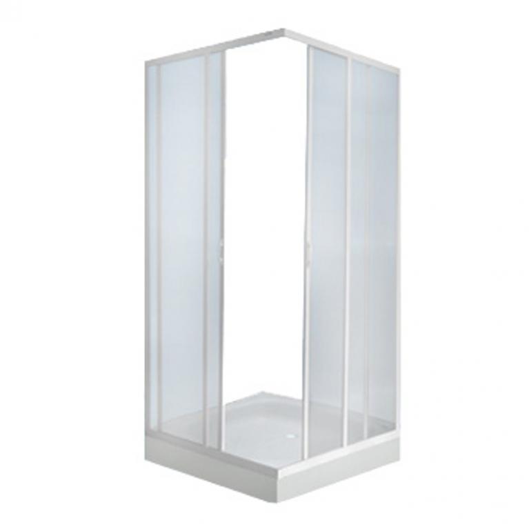 Кабина душевая пл/стекло 2-х стенная Пластиклайн (СибПласт)