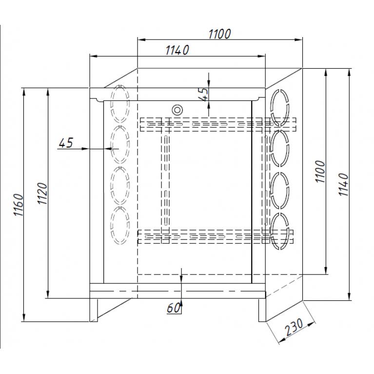 Шкаф коллекторный ШКВ встроенный сталь