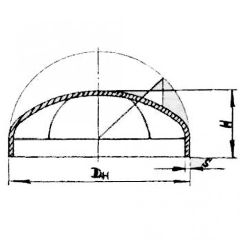 Заглушка сталь эллиптическая ГОСТ 17379-2001