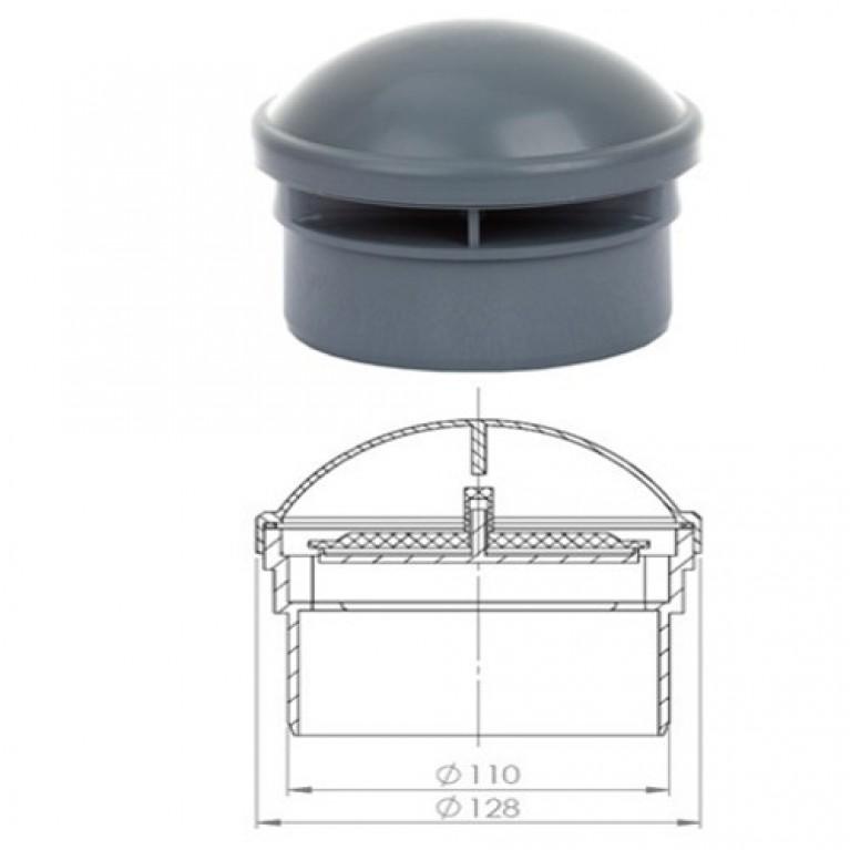 Клапан вакуумный серый Ostendorf