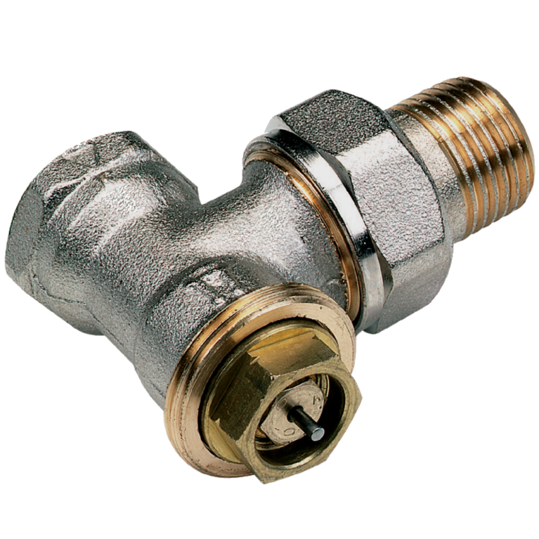 Клапан термостатический 3808E для двухтр никель Ру10 угловой НР гайка М28х1,5 Comap