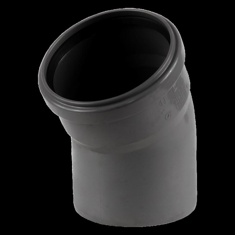 Отвод НПВХ с раструбом серый