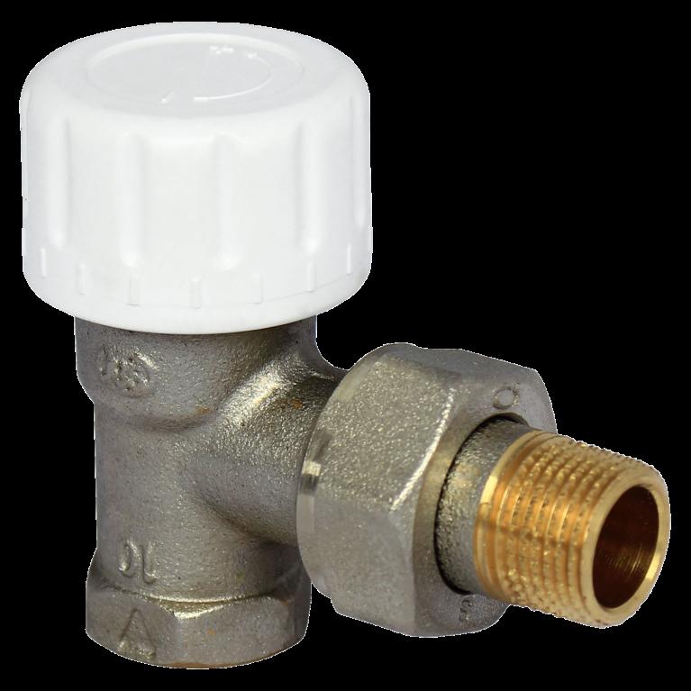 Клапан термостатический 804 для двухтр никель Ру10 угловой ВР гайка М30х1,5 Comap