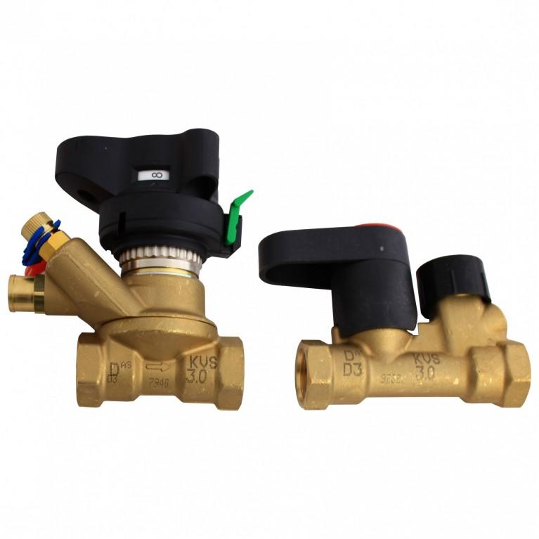 Комплект клапанов балансировочных MSV-BD/MSV-S Ру20 ручной ВР/ВР Danfoss