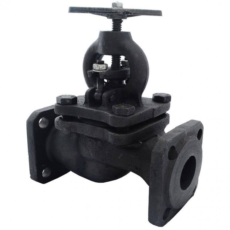 Клапан запорный чугун 15кч16п фл