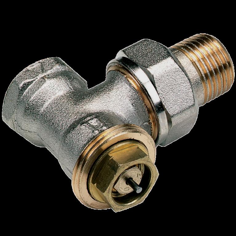 Клапан термостатический 3808 для двухтр никель Ру10 угловой ВР гайка М28х1,5 Comap
