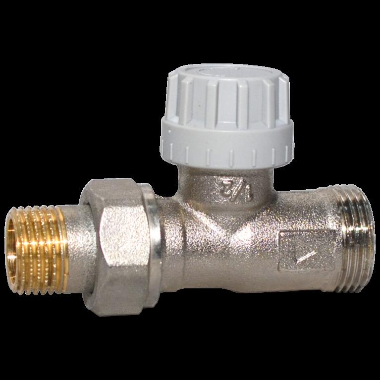 Клапан термостатический 9809E для двухтр никель Ру10 прямой НР гайка М28х1,5 Comap
