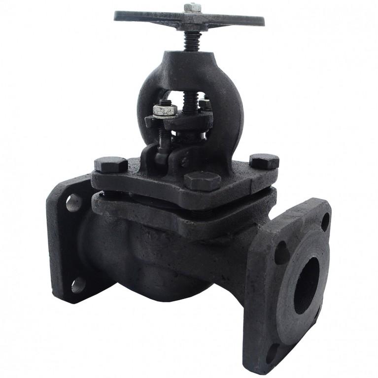 Клапан запорный чугун 15кч16п1 фл