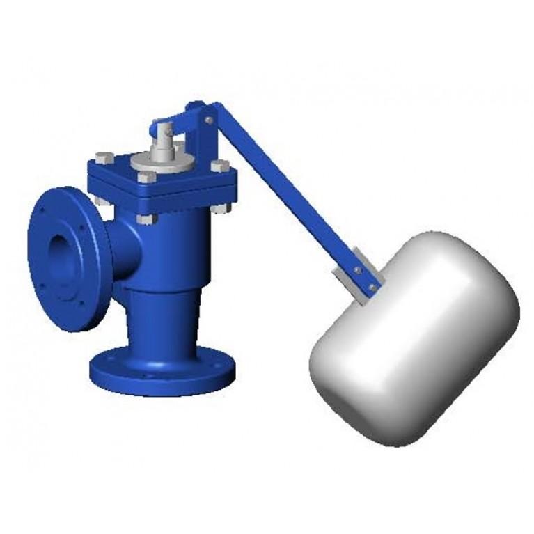 Кран поплавковый уравновешенный чугун RF3240 синий Ру10 фл поплавок Tecofi