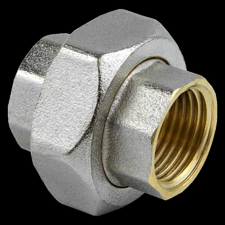 Соединитель латунь американка никель ВР 9012 ГОСТ 32585-2013 Aquasfera