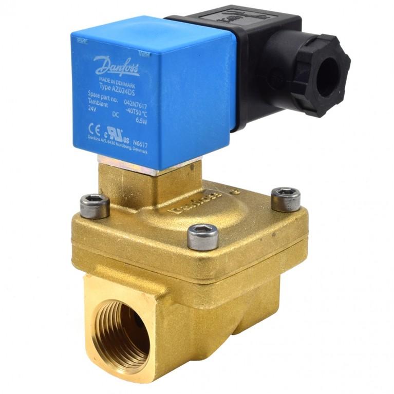 Клапан эл/магн латунь EV220W ВР/ВР Danfoss