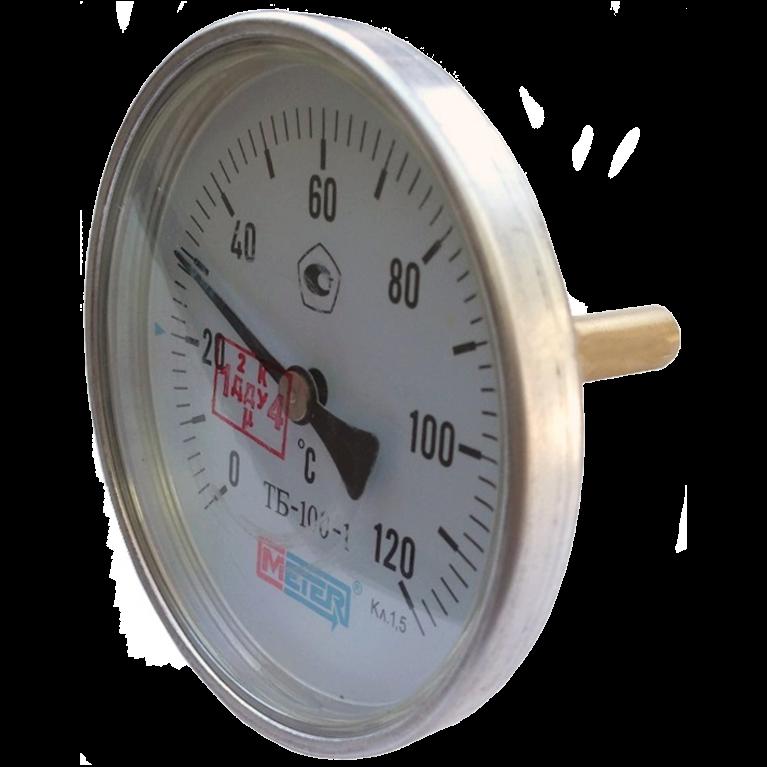 Термометр биметаллический осевой Метер