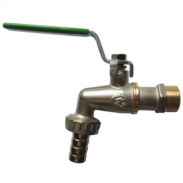 Кран шаровой латунный водоразборный Uno+ 1768 НР рычаг STC