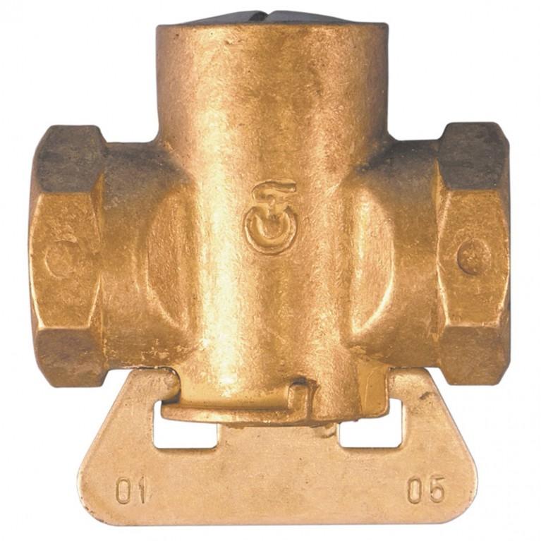Кран конусный латунь газ 11б12бк ВР/ВР Цветлит