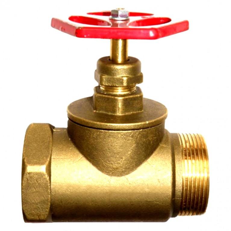 Клапан запорн прямой латунь 15б1р ВР/НР Цветлит