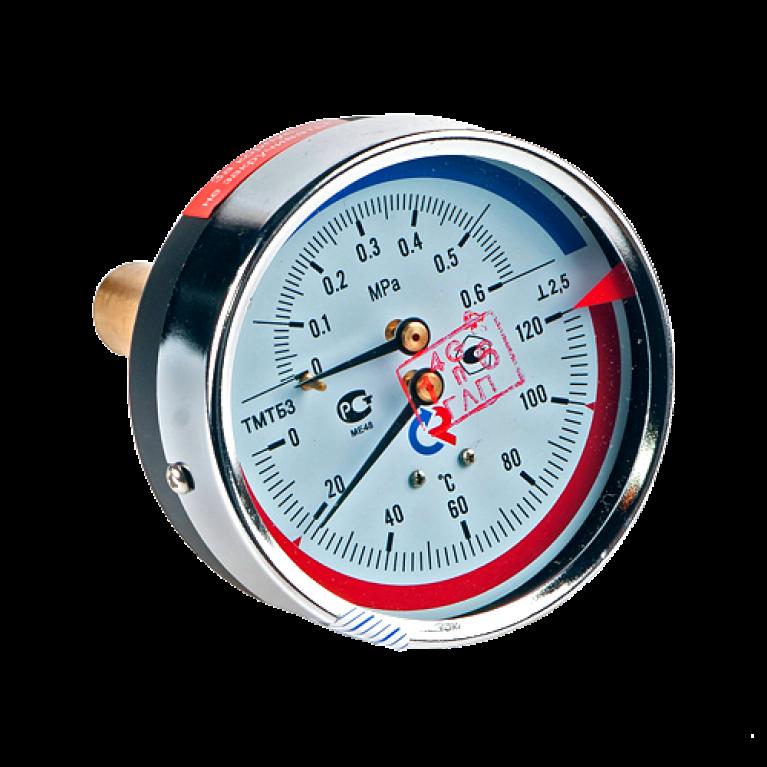 Термоманометр осевой ТМТБо 120C Росма