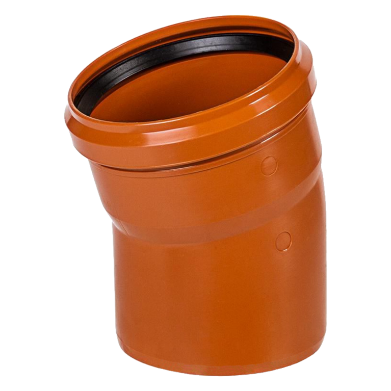 Отвод НПВХ с раструбом коричневый