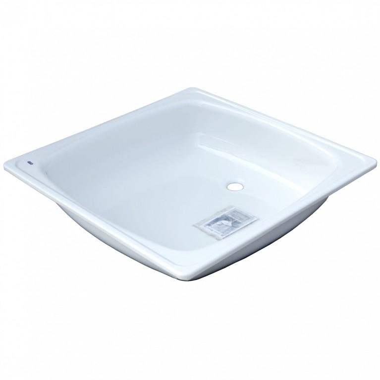 Поддон сталь квадрат 800x800 White Wave (Караганда)