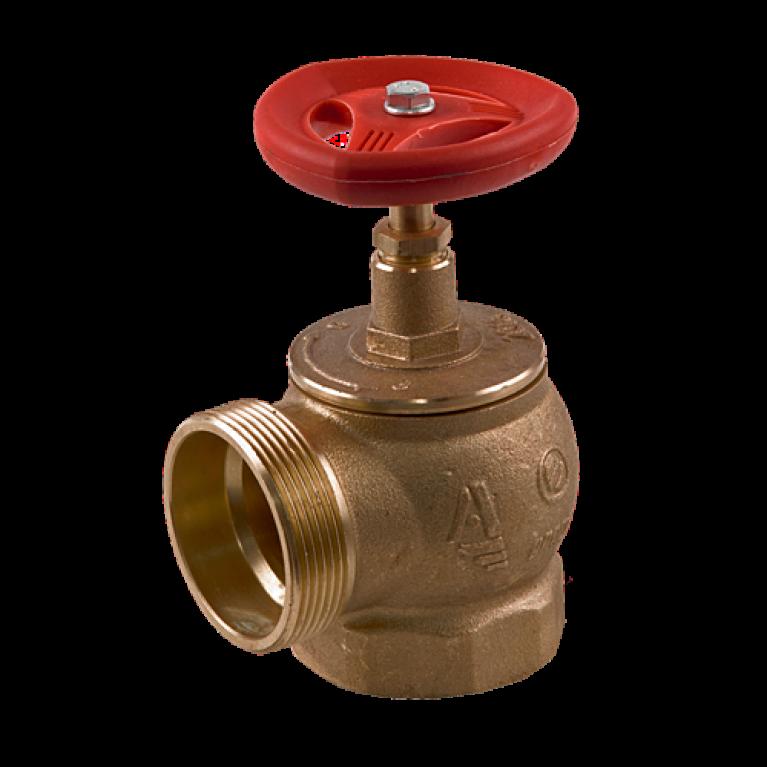 Клапан пожарный латунь КПЛМ угловой 90гр Апогей