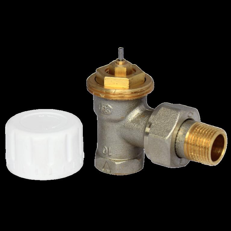 Клапан термостатический 808 для двухтр никель Ру10 угловой ВР гайка М28х1,5 Comap