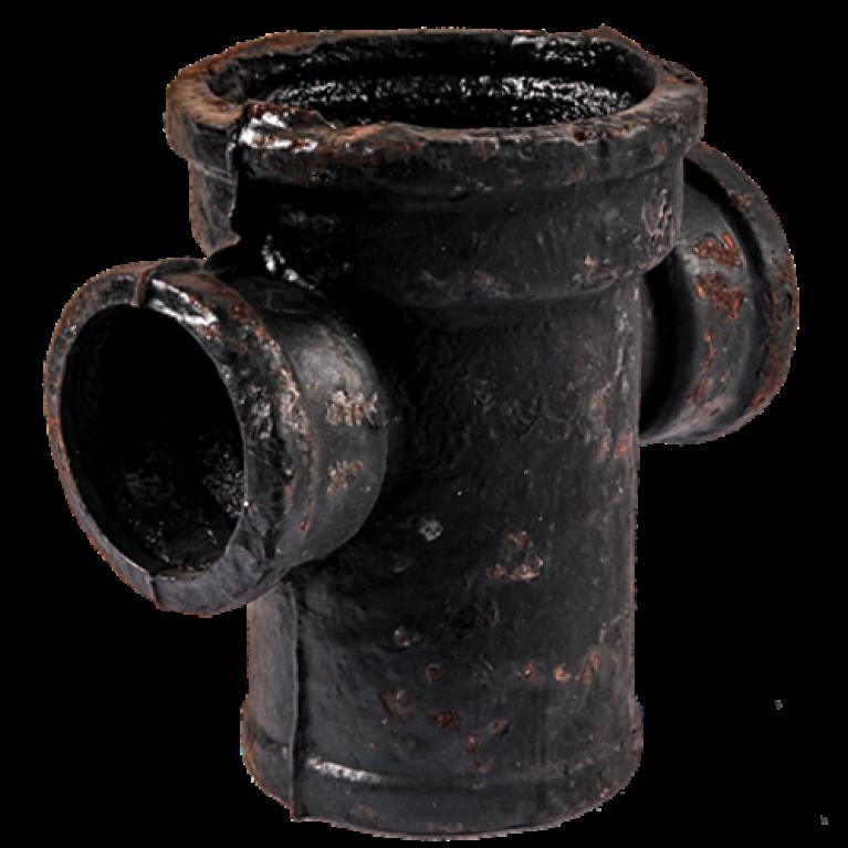 Крестовина чугун канализационная 1-плоскостная ГОСТ 6942-98