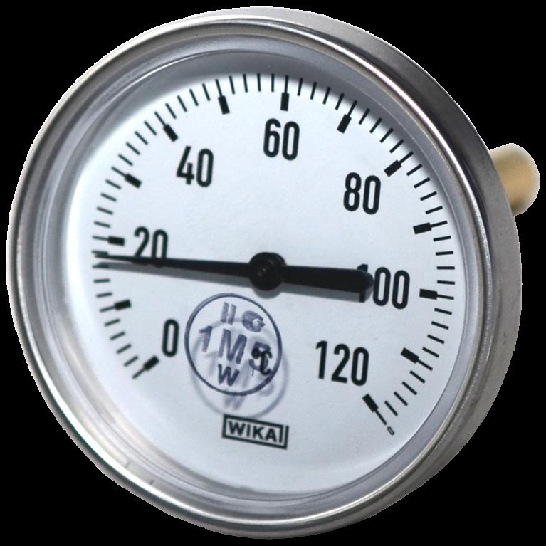 Термометр биметаллический осевой Wika