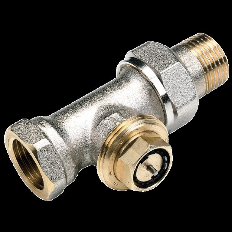 Клапан термостатический 809E для двухтр никель Ру10 прямой НР гайка М28х1,5 Comap