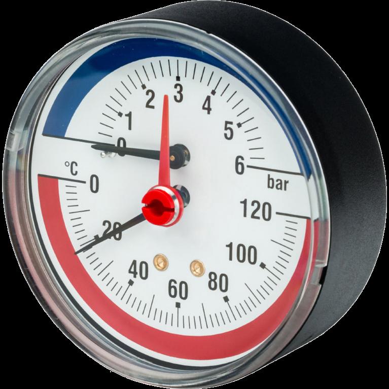 Термоманометр осевой R226 Giacomini