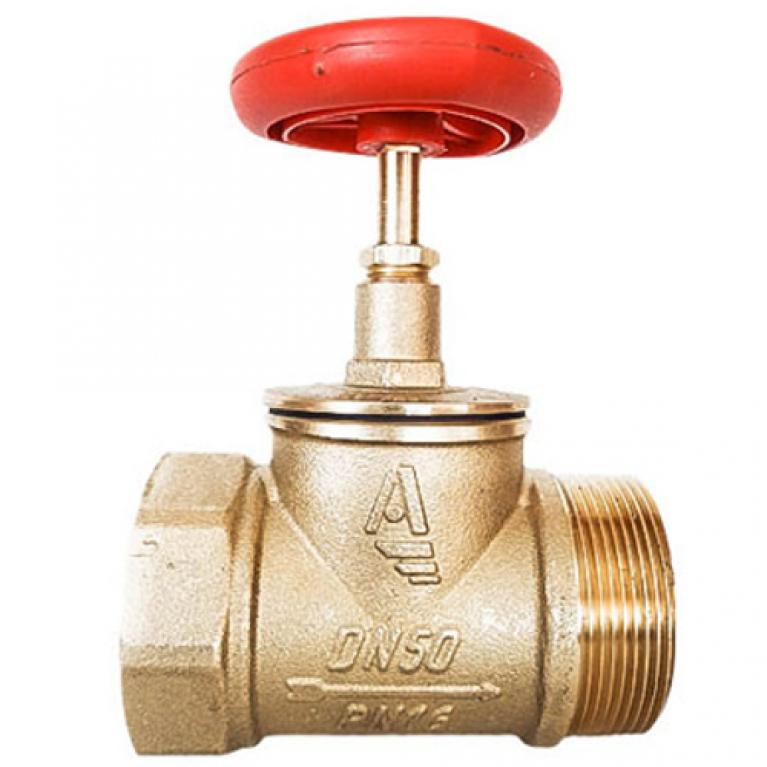 Клапан пожарный латунь КПЛП с датчиком положения прямой Апогей